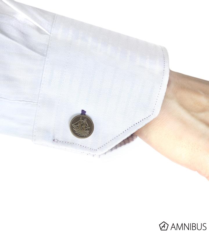 リュミオーネ金貨ネクタイピン&カフスボタンセット