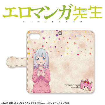 【iPhone8/7 ケース】エロマンガ先生 手帳型ケース