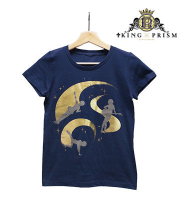 オバレの煌めきゴールド箔プリントTシャツ